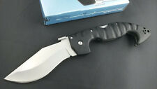 "10""AUS-8 Blade Survival Bowie Large FRN Handle Back Lock Folding Knife FF01"