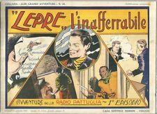 """COLLANA ALBI GRANDI AVVENTURE 28 -""""LEPRE"""" L'INAFFERRABILE- 12/1/1947"""