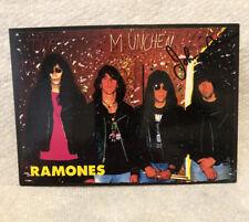 Johnny Ramone Autographed Ramones Post Card Loco Live Munchen Germany