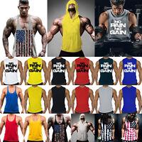 Herren Muskelshirt Tank Top Gym Fitness Sport Weste T-Shirt Bodybuilding Vest XL