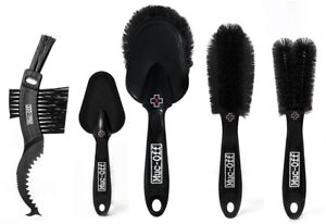 Muc-Off 5 Piece Premium Bike Cleaning Brush Set for Bikes and Motorcycles