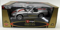 Burago 1/18 Scale Diecast 3323 Shelby Series 1 1999 Silver Red Model Car