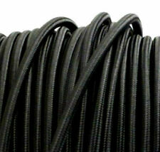BLACK vintage style textile fabric electrical cord cloth cable retro light