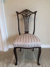 Antique Carved Mahogany Chairs 1800's $165 shipping by Greyhound Package Express