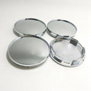 4x 68mm Chrome Car Wheel Hub Center Caps Set No Logo Dust Cover Car Accessories