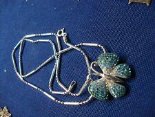 Silver Butterfly Necklace Grandmas Estate 925 Sterling