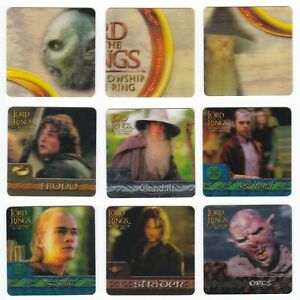2002 Lord of the Rings ArtBox Action Flipz Lenticular You Pick Finish Your Set