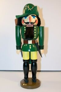 "Handarbeit 14"" Nutcracker Doll Hand Made In Germany Ranger Forester"