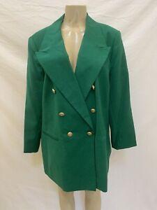JG HOOK Women's Plus Size 16? Green Double Breasted Blazer