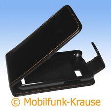Flip Case Etui Handytasche Tasche Hülle f. Motorola Defy+ (Schwarz)