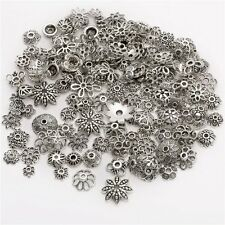 1X Tibetan Silver Flower End Spacer Loose Beads Caps For Jewellery Craft New DIY
