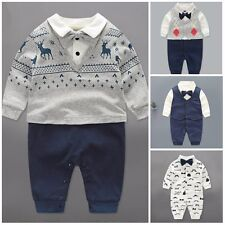 baby boy clothes baby formal suit baby boy wedding party bodysuit Christmas gift