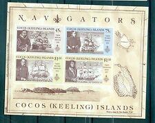 NAVIGATEURS CELEBRES - MARINERS COCOS ISLANDS 1990 block