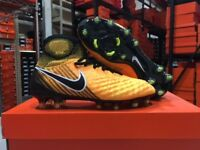 Nike Junior Magista Obra II FG Cleats (Laser Orange/Black) Size: 4-6 Y NEW!