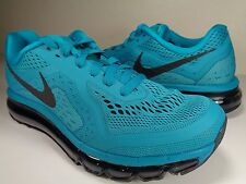 Womens Nike Air Max 2014 Turbo Green Black Atomic Teal SZ 8 (621078-300)