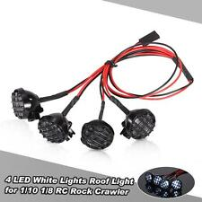 4 LED White Lights w/ Lampshade Roof Light Search Lamp for 1/10 1/8 RC Car W7L4