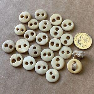 23 Antique Bone Underwear Buttons, Vintage, Victorian, Reenactment