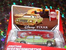 "DISNEY PIXAR CARS ""JOHNATHAN WRENCH"" Die-Cast Metal, Scale 1:55, New, Mattel"