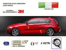 Modanature BMW SERIE 1 esterne laterali tuning in gomma per adesivi salva urti