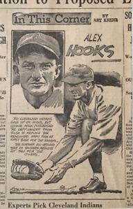 1935 newspaper panel In This Corner by Krenz - Alex Hooks Cleveland Indians