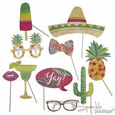 TROPICAL PHOTO BOOTH PROPS - 'Hot Summer' Garden Party/Tropical BBQ/Luau/Mexican
