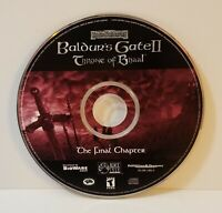 Baldur's Gate II 2 Expansion Throne of Bhaal PC CD-Rom 2001 windows role playing