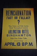 *VINTAGE* Reincarnation Fact or Fallacy Hear Eunice & Felix Layton Theosophical