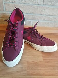 Converse One Star Ox Leather Shoes Burgundy Unisex Men's Size 6.5 Women's 8.5