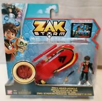 ZAK STORM - *New* Bandai 41585 Zak Storm Hover Vehicle Action Figure And Coin