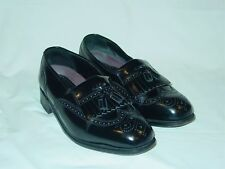 Mens Professional Florsheim Lexington Kiltie Tasseled Wing Tip Loafers 8 1/2 3E