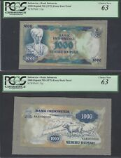 Indonesia Face & Back 1000 Rupiah ND(1975) P113p Essay Proof Uncirculated