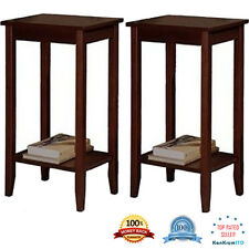 Set of 2 Coffee Stand Night Side Tall End Table Accent Furniture Home