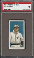 Rare 1909-11 T206 Bill Clymer Piedmont 350 Columbus Minor League PSA 5 EX