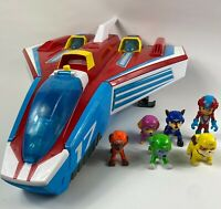 Paw Patrol Super Paws Mighty Jet Command Centre With Full Set Of Pups Bundle