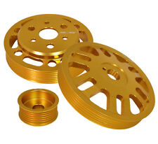 3Pc Motor Pulley Kit Set -Crank +Alternator+Water Gold For Scion Frs/Subaru Brz
