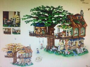 Tree House Wooden Waterwheel Swing 3D , 4761pcs Loz Building Bricks