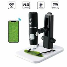 Microscopio Digital ROTEK, WIFI USB Microscopio Cámara 1000x Zoom 1080P HD CON