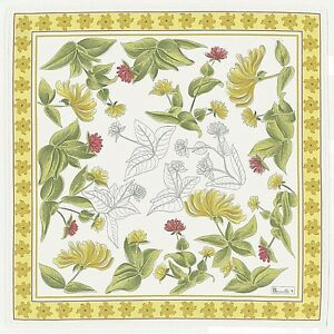"""BEAUVILLE, JARDINS (GARDENS) YELLOW FRENCH TABLECLOTH, 67"""" x 95"""", NEW IN BOX"""