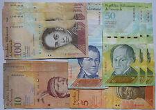 Venezuela: 1701 VEF. 15 X 100, 3 X 50, 4 X 10, 1 X 5, 3 X 2 bolívares