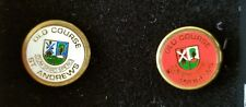 2 Collectible Pins / Lapel Studs: Old Course St. Andrews Scotland Golf Course