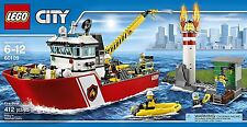 (NEW SEALED) LEGO CITY 60109 FIREMEN FIREMAN FIRE BOAT TOY PLAYSET FIREFIGHTER