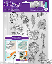 Docrafts Papermania Steampunk A5 Stamp set + Storage Pocket COGS & tramontata icone