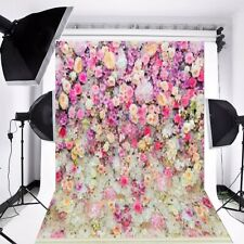 AU 5x7FT Flower Wall Backdrop Vinyl Wedding Photography Background Studio