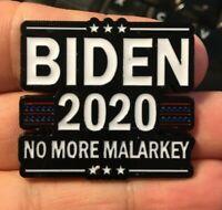 Joe Biden 2020 enamel pin Malarkey President election US hat lapel bag Harris
