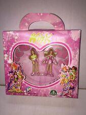 Winx Club 2x Mini Figure FLORA 7 cm Versione TRENDY e FATA MIB, 2005