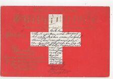 Rufst du Mein Vaterland 1901 U/B Postcard Switzerland 393a
