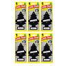 6 x Magic Tree Little Trees Car Home Air Freshener Freshner Scent - BLACK ICE