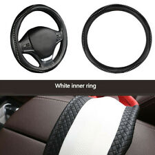 Skidproof Auto Car Steering Wheel Cover PU Leather wiht Bling Rhinestone 38cm