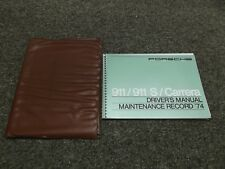 1974 Porsche 911 911S S Carrera Factory Owner's Owners Manual Book w/ Case 2.7L