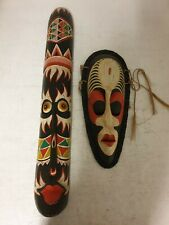 AFRICAN STYLE MASKS X 2 USED GOOD CONDITION (W2)